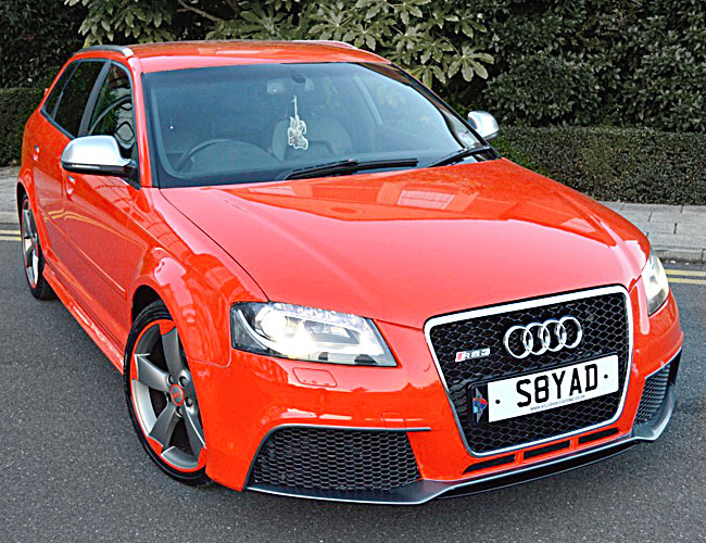 Audi A3 RS3 body kit bodykit conversion 5 Door Front view read and grey gray Xclusive Customz Sheffield UK England
