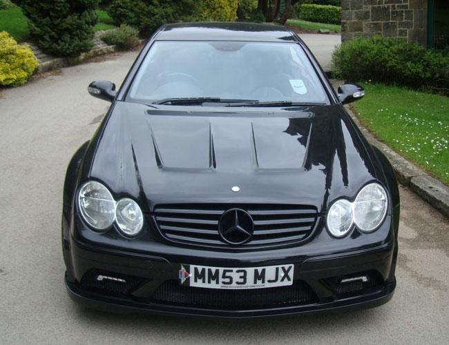 CLK-Black-Front3 Mercedes CLK-Black-Front3