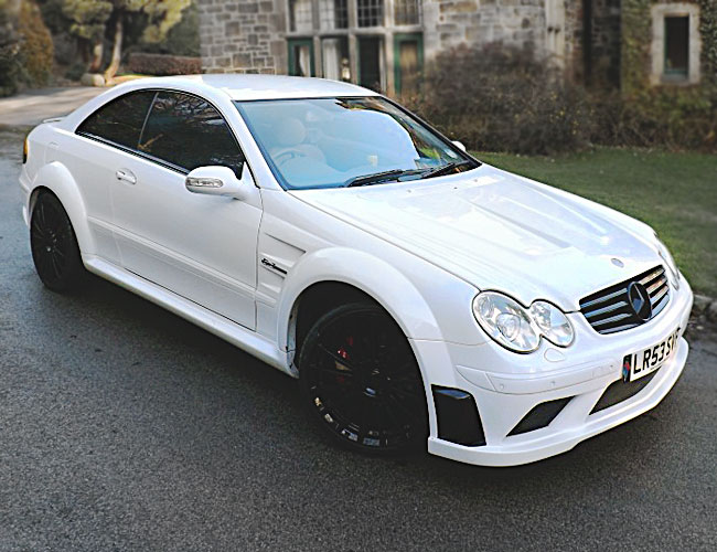 Mercedes clk to black series wide body kit xclusive for Mercedes benz clk black series body kit