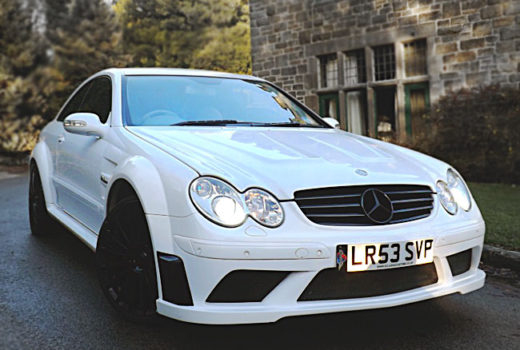 Mercedes CLK63-Black-Front2