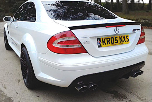 Mercedes CLK63-Black-Rear1