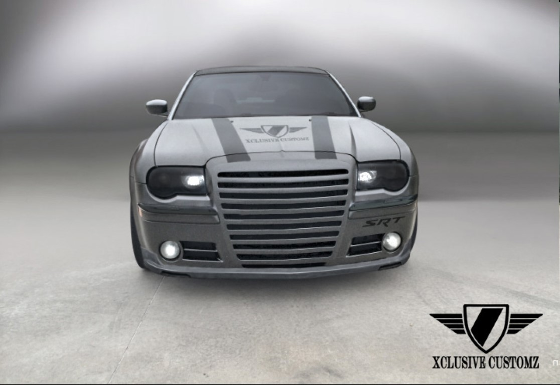 chrysler 300c front splitter body kits uk xclusive customz. Black Bedroom Furniture Sets. Home Design Ideas