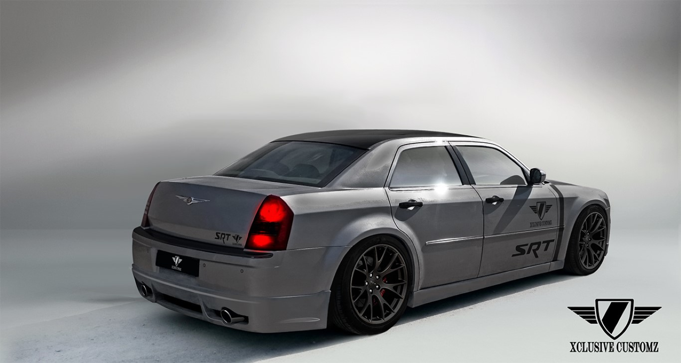 chrysler 300c rear splitter xclusive customz. Black Bedroom Furniture Sets. Home Design Ideas
